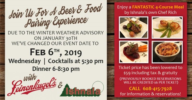 LEINENKUGEL BEER & ISHNALA FOOD PAIRING!